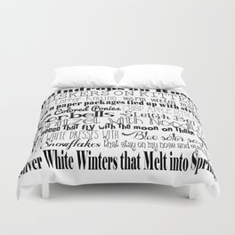 My Favorite Things - White ver 2 Duvet Cover