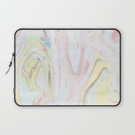 Abstract hand painted watercolor pastel colors marble Laptop Sleeve