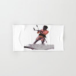 Board Out Of Your Mind Kitesurf Vector Hand & Bath Towel