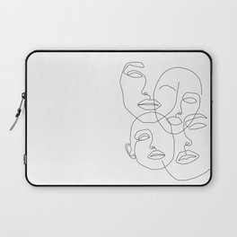 Messy Faces Laptop Sleeve
