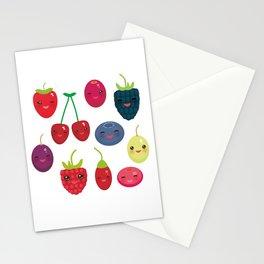 Kawaii Cherry Strawberry Raspberry Blackberry Blueberry Cranberry Cowberry Goji Grape Stationery Cards