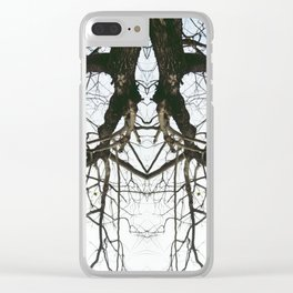 Mirrored Trees 4 Clear iPhone Case
