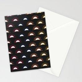 Sunset pattern Stationery Cards