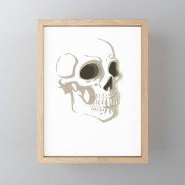 Faded Skull Framed Mini Art Print