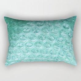 Aqua Bubble Wrap Rectangular Pillow