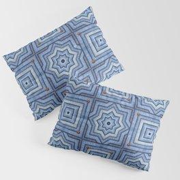Blue Jeans Denim Quilt Patchwork Pillow Sham