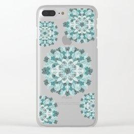 Crystals Succulents Mandala MINT GREEN Clear iPhone Case