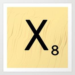 Scrabble X Initial - Large Scrabble Tile Letter Art Print