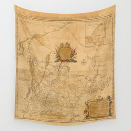 Map Of New Hampshire 1784 Wall Tapestry