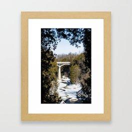 David Street Bridge in Winter Framed Art Print