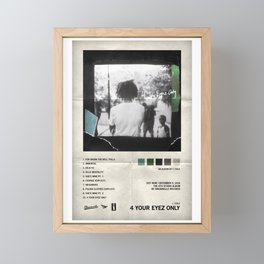 J. Cole - 4 Your Eyez Only - Album Cover Poster Print Wall Art A3, Custom Poster Framed Mini Art Print