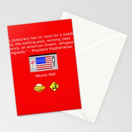 The Plutocracy in America Stationery Cards