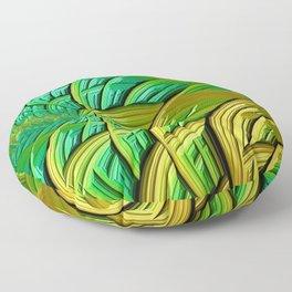 patterns green yellow string Floor Pillow