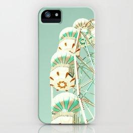 Soft Aqua Ferris Wheel  iPhone Case