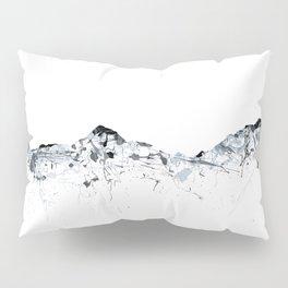 Eiger/Mönch/Jungfrau mountainsplash grey Pillow Sham