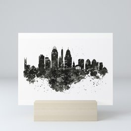 Cincinnati Skyline Black and White Mini Art Print