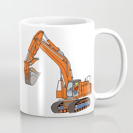 Track Hoe Coffee Mug