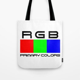 RGB. Primary colors. Tote Bag