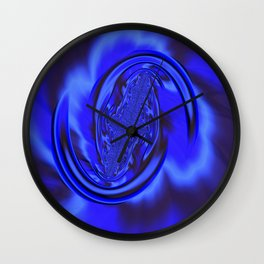 Inspirational Blue Wall Clock
