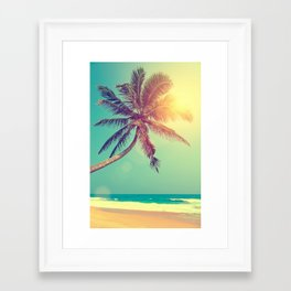 Palm Tree in Sri Lanka Framed Art Print