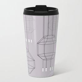 Geo Chandeliers - Pink Gray Travel Mug