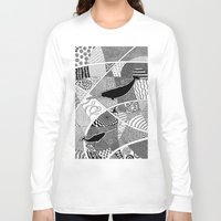 narwhal Long Sleeve T-shirts featuring Narwhal by K J Guindon