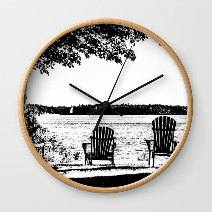Weekend At The Cottage Wall Clock