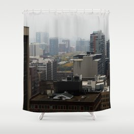 City Buildings Chicago Original Color Photo Shower Curtain