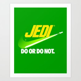 Brand Wars: Jedi - green lightsaber Art Print