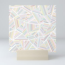 Ab Linear Rainbowz Mini Art Print