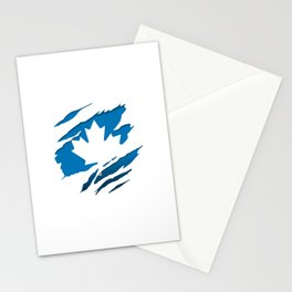 Canadian Blue Flag Pride Stationery Cards