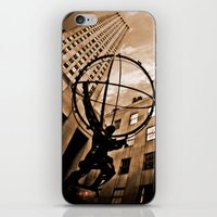 atlas iPhone & iPod Skins featuring Atlas by Chad Madden