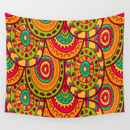 Ethnic psychedelic print Wall Tapestry