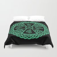 celtic Duvet Covers featuring Celtic Nature by Astrablink7