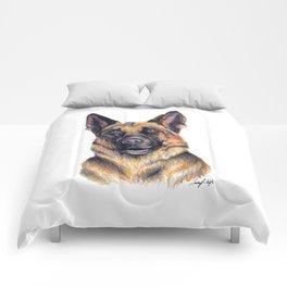 German Shepard - Dog Portrait Comforters