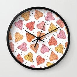 Love, hearts, cookies! Wall Clock