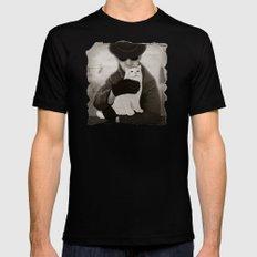 Cat and Alien Mens Fitted Tee Black MEDIUM
