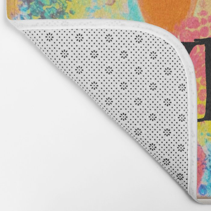 JUST LOVE ME - Beautiful Valentine's Day Romance Love Abstract Painting Sweet Romantic Typography Bath Mat