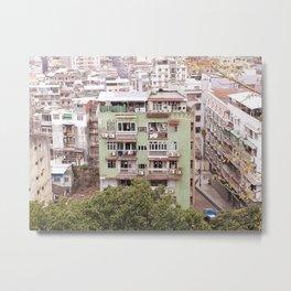 Old Macao Building Metal Print