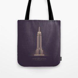 Empire State Building New York Art Deco - Vintage Dark Tote Bag