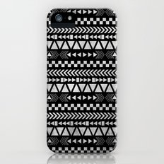 Tribal Print in Black and White Slim Case iPhone (5, 5s)