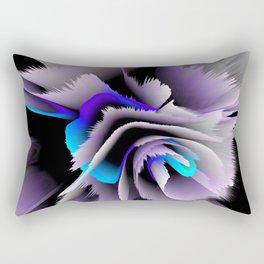 3d flower lilac blue Rectangular Pillow