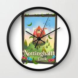 Nottingham Castle Travel poster Wall Clock