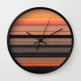 Sunset at Praia da Arrifana Wall Clock