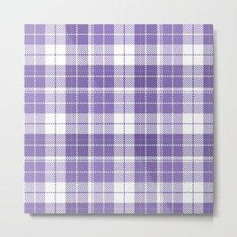 Ultra Violet Tartan Pattern Metal Print