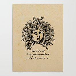 Sylvia Plath - Lady Lazarus Poster