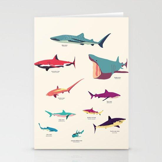 Sharks Stationery Cards