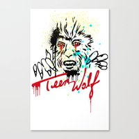 teen wolf Canvas Prints featuring Teen Wolf  by DIVIDUS