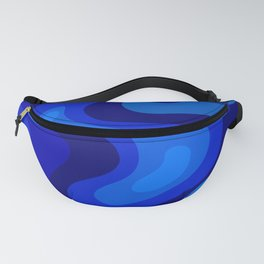 Multicolor Blue Liquid Abstract Design Fanny Pack