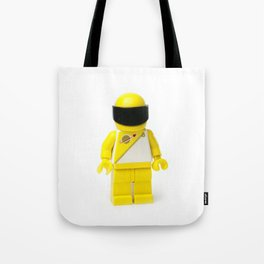 Yellow astronaut Minifig with his visor down Tote Bag